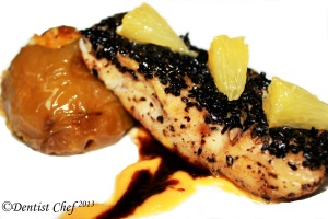 recipe seabass cumin sesame crusted recipe pumpkin puree roasted stuffed jalapeno pepper