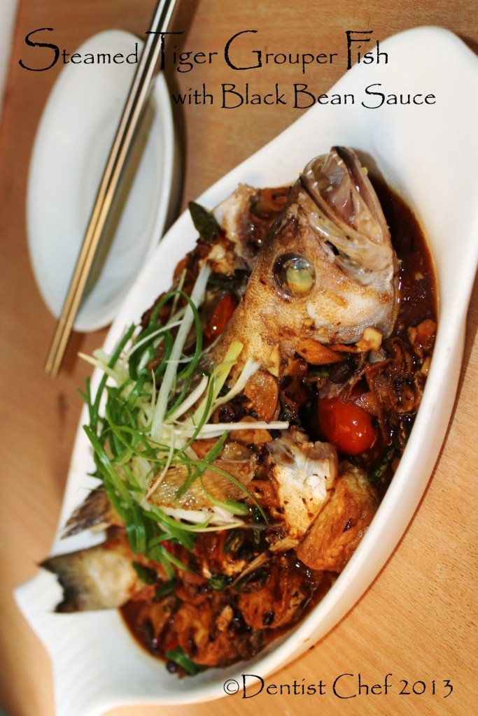Recipe Steamed Grouper Fish with Chinese Black Bean Sauce