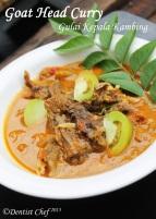 resep gulai kambing kepala kambing goat head curry