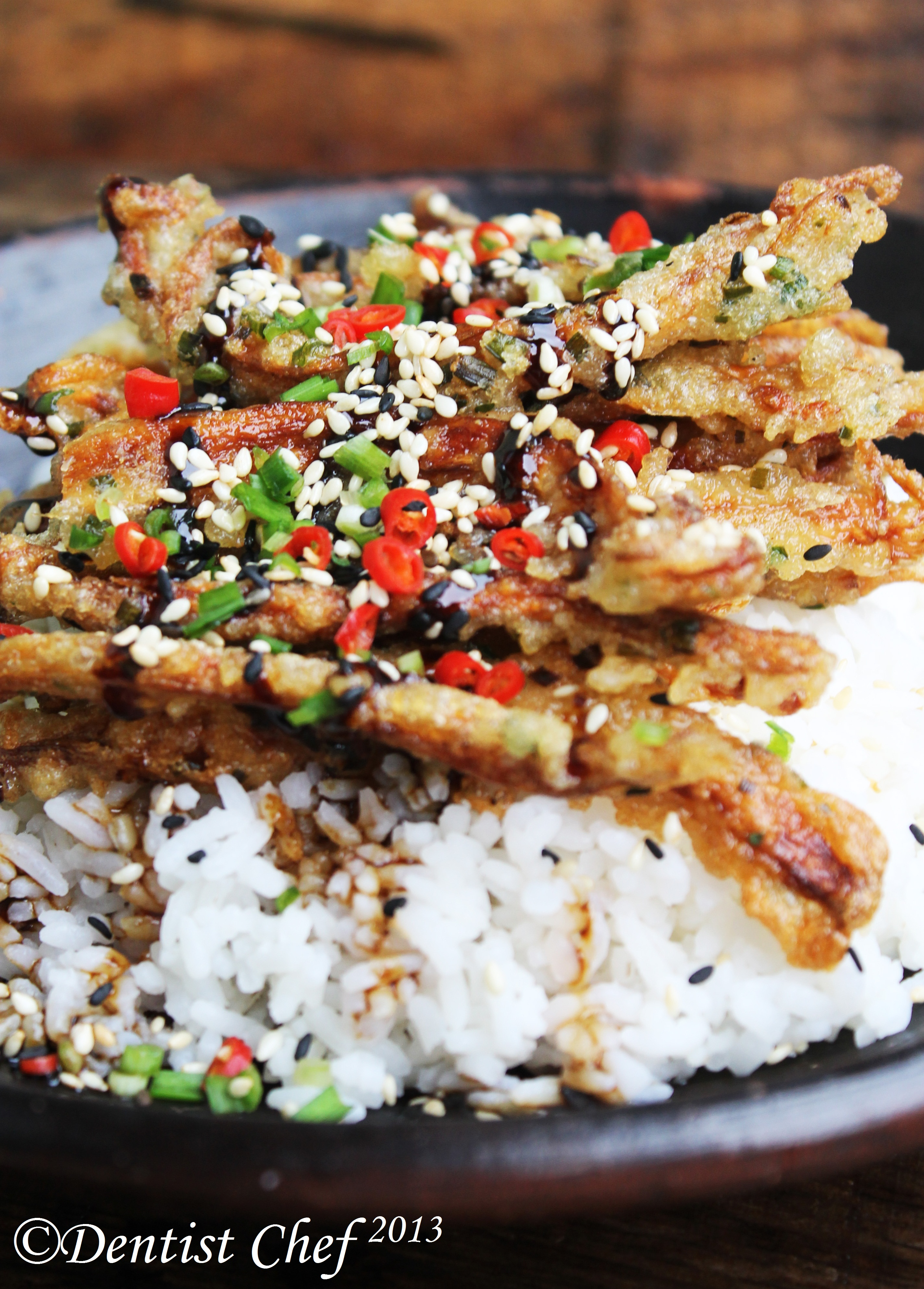 Crispy Enoki Mushrooms Tempura with Teriyaki Sauce: Meatless Monday ...