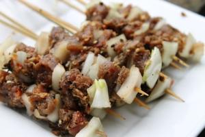 resep sate kambing bumbu kacang madura enak mudah szechuan lamb skewer step by step