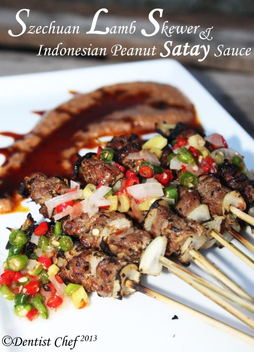 resep sate kambing bumbu kacang szechuan lamb skewer peanut satay indonesia