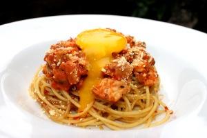 Resep Spaghetti ikan tuna tomat enak