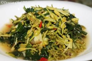 resep tumis bunga pepaya stir fry papaya blossom recipe