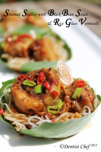 scallop steamed scallop blackbean tausi sauce glass noodle vermicelli recipe