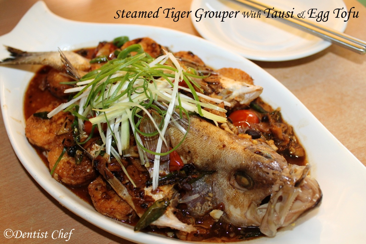 Tiger Garoupa/Grouper with Tausi/ Fermented Black Bean and Egg Tofu ...