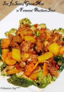 stir fry seitan gluten recipe vegetarian meat mock duck  wheat meat recipe