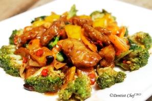 stir fry seitan gluten veggies black bean sauce vegetarian recipe