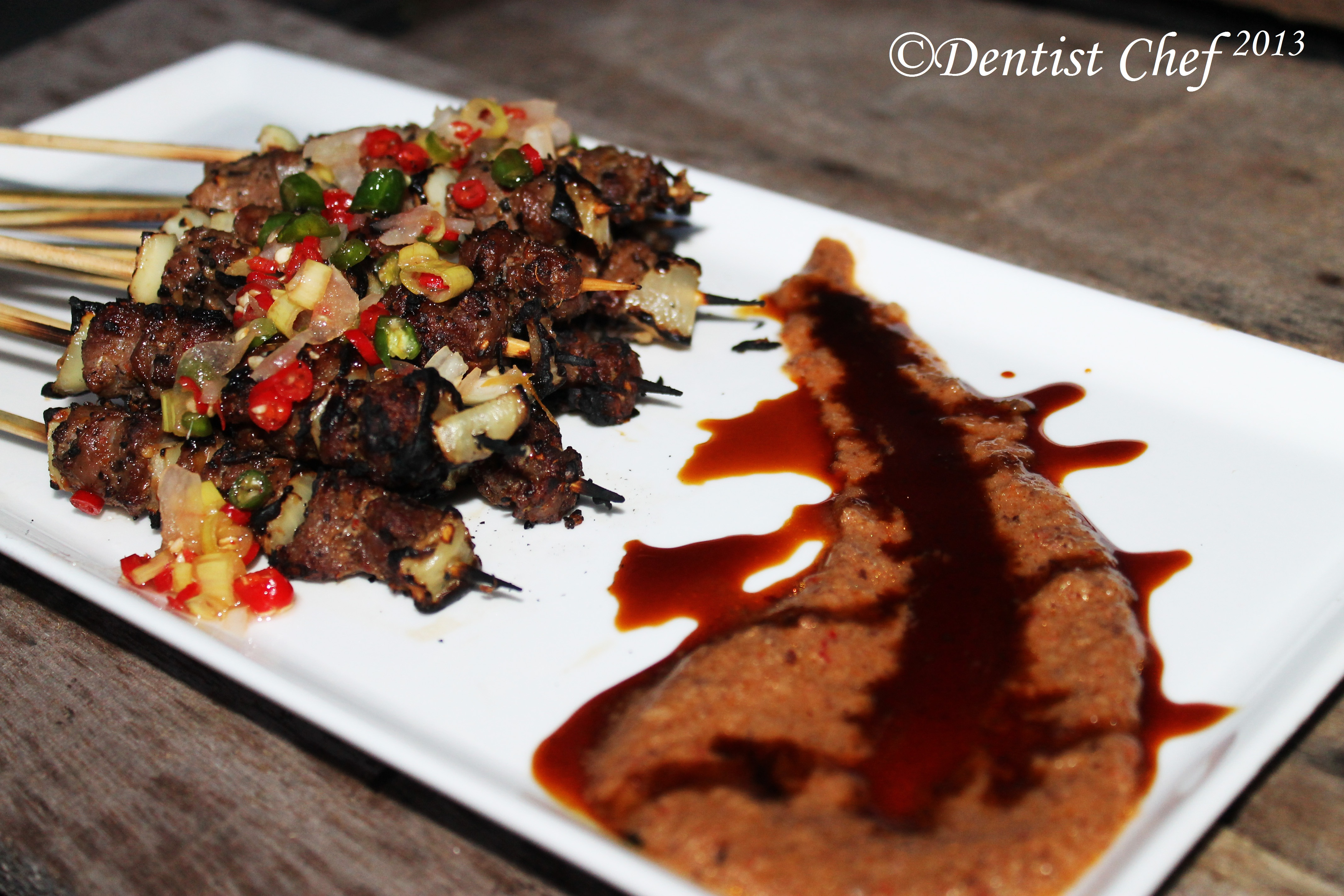 Szechuan Style Lamb Skewer With Indonesian Peanut Satay