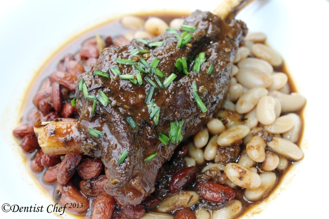 braised lamb shank baked beans navy beans tender recipe