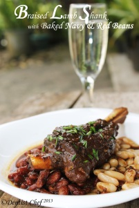 Braised lamb shank with navy bean and red bean recipe how braise lamb recipe