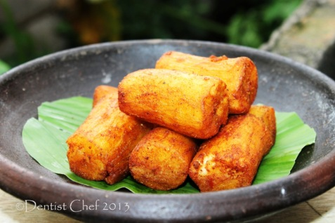 deep fried yuca cassava singkong goreng