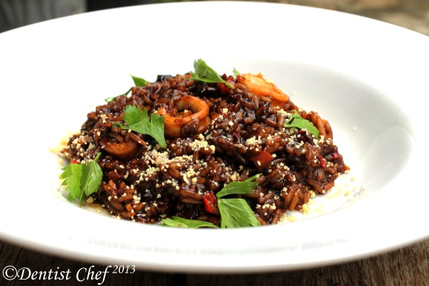 how make arroz negro arros nigra negre step by step italian rice recipe paella black squid ink