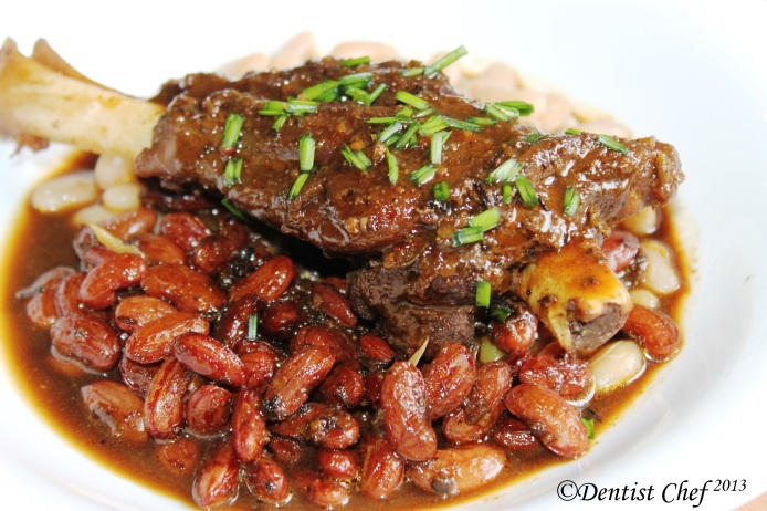 tender lamb shank recipe braised shank with navy bean baked beans