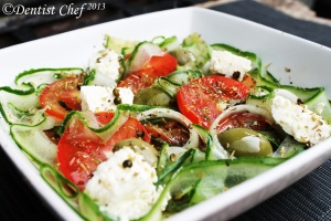 cucumber tomato salad  olive salad greek salad easy healthy recipe