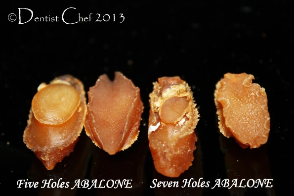 dried abalone seven hole five hole abalone