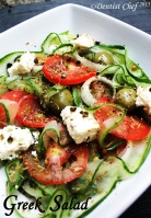 greek salad recipe cucumber olive salad  feta cheese