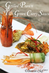 green chili prawn thai green curry sauce udang kari hijau thailand