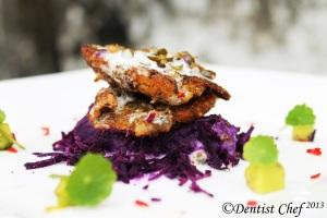 pan fried barramundi filllet green peppercorn sauce cream mashed sweet potato