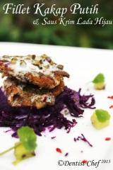 resep fillet ikan kakap putih saus lada hijau krim steak ikan kakap