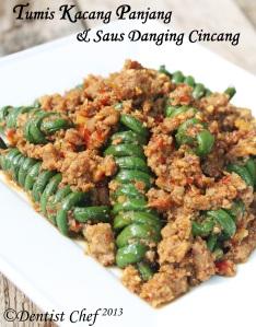 resep tumis kacang panjang daging cincang ayam sapi