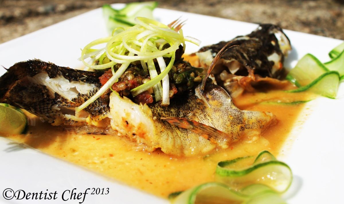 Steamed Sun Hock Marble Goby Fish With Preserved