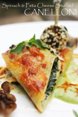 canelloni with spinach feta cheese stuffing recipe