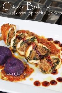 chicken ballotine recipe stuffed chicken with spinach meat mushroom stuff chicken breast