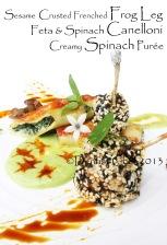 french frog leg recipe crusted cispy  frog leg sesame crusted