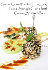 french frog leg recipe crusted cispy  frog leg sesame crusted