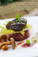 pan fried foie gras recipe goose liver wine poached pears