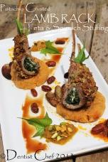 pistachio crusted lamb chop lamb rach with spinach feta stuffed lamb
