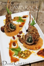 pistachio crusted lamb chop lamb rach with spinach feta stuffed lamb