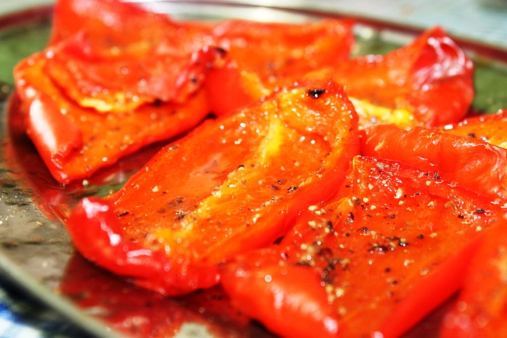Roasted pepper for making pesto sauce
