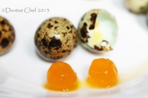 salted quail egg