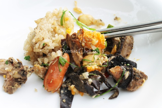 steamed chicken wrap lotus leaf sticky rice abalone mushrooms recipe