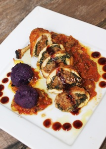 stuffed chicken breast with spinach ground meat porcini balontine recipe chicken