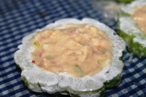 bitter gourd stuffed with fish paste