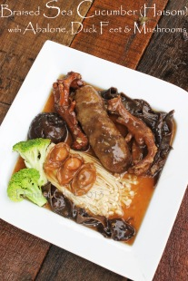 braised sea cucumber abalone duck feet web recipe braised duck with haisom