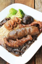 braised sea cucumber duck feet goose web with oyster sauce superior stock abalone recipe