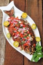 resep ikan bakar rica sambal dabu-dabu mentah grill fish