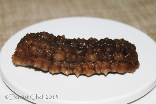 sea cucumber ready to cook soaked haisom