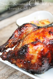 smoke roasted chicken recipe roasted chicken honey glaze spicy