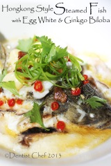 steamed fish with egg white ginkgo biloba nuts rice wine hongkong style steam fish