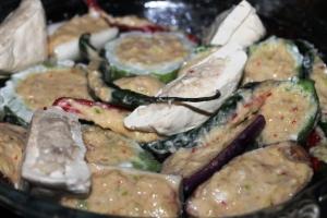 steamed tofu stuffed fish paste