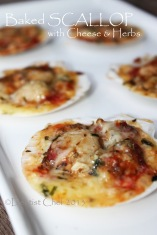 baked scallop cheese herbs recipe