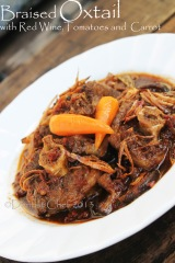 braised oxtail recipe stew oxtail tomato red wine carrot