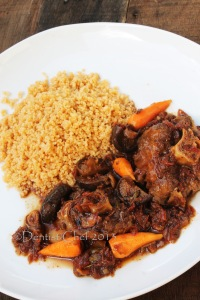 braised oxtail with couscous