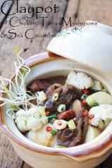 claypot chicken mushrooms recipe sea cucumber haisom claypot chicken braised chinese restaurant chicken tofu recipe