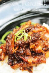 Octopus chilli garlic spicy recipe